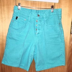 Steel vintage denim shorts